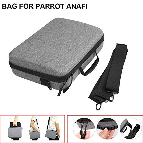 Drone Bag,Carrying Case,Lucoo Waterproof Box Handheld Storage Bag,Handbag Storage Carry Bag Protect Case Shoulder Bag Suitcase for Parrot ANAFI RC Drone Backpack (Gray)
