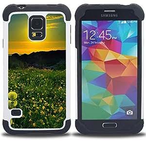 "Hypernova Híbrido Heavy Duty armadura cubierta silicona prueba golpes Funda caso resistente Para SAMSUNG Galaxy S5 V / i9600 / SM-G900 [Sunset Beautiful Nature 42""]"