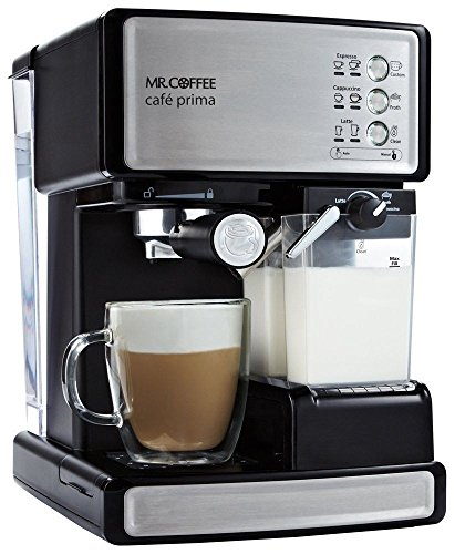 Mr.Coffee BVMCEM6601J Cafe Barista Espresso and Cappuccino Maker Silver 100V Coffee Machine