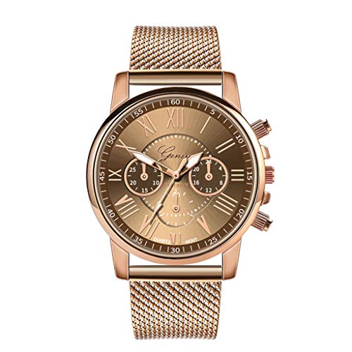 Stretch Ladies Mesh Watch - Star_wuvi Women's Watch Fashion Analog Quartz Watches with Stainless Steel Mesh Band Waterproof Wristwatch Casual Watch Ladies (Rose Gold & Pink & White & Gold)
