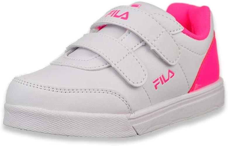 Fila Kids G 1000 Strap Sneaker Toddler,White//Navy,5