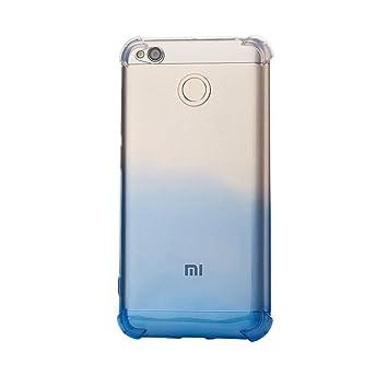 SMTR Xiaomi Redmi 4x Funda, Xiaomi Redmi 4x Color de degradado Funda Gel Suave TPU Case - Carcasa Resistente a los Arañazos para Xiaomi Redmi 4x -Azul