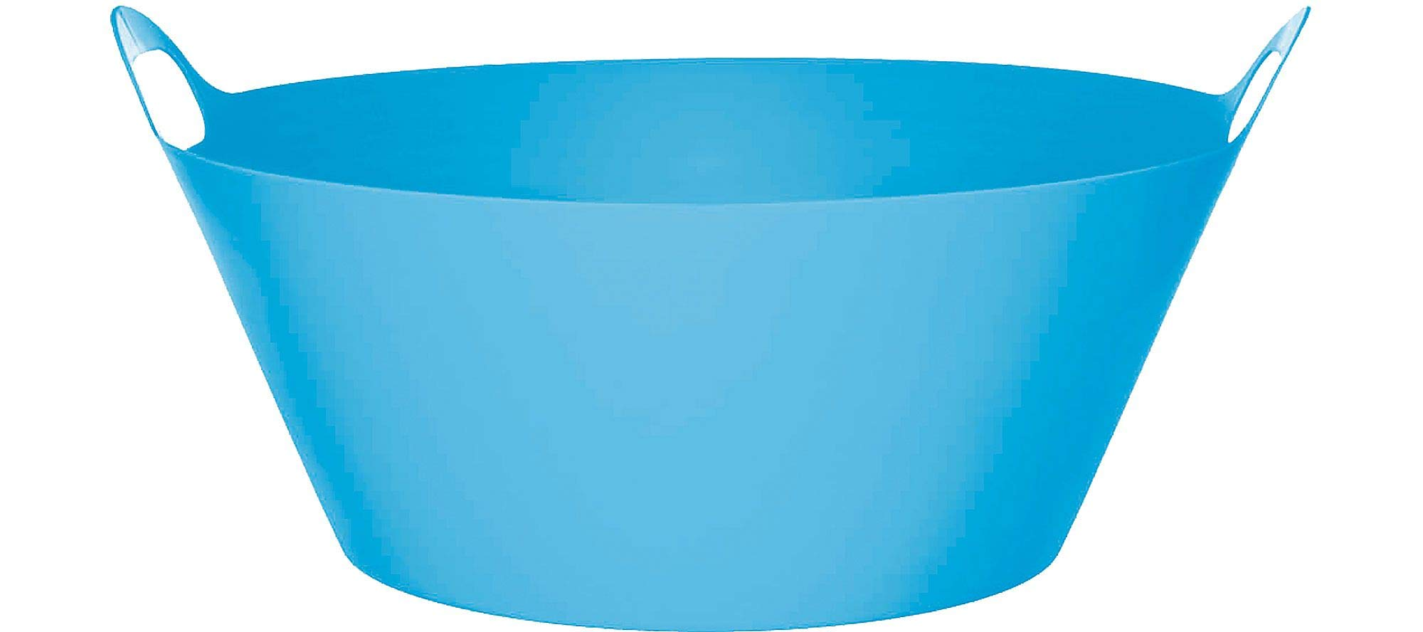 Caribbean Blue Round Plastic Party Tub 19in