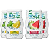 H2wOw Liquid Water Enhancer Drops - ORGANIC & Natural Extracts of Real Fruit - a Hint of Organic Stevia - Makes 768 oz of Delicious Watermelon Honeydew and Lemon Spearmint Flavored Water