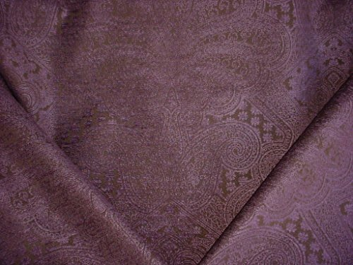 224H5 - Purple / Eggplant Floral Paisley Chenille To the Trade Decorative Upholstery Drapery Fabric - By the Yard (Paisley Chenille Tapestry Fabric)