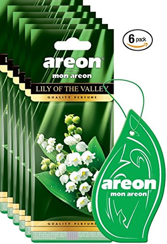 Areon MON I Modern Design Hanging Car Air Freshener I Lily The Valley Scent (Pack of 6)