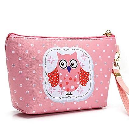 Amazon.com: Kawaii Owl Printing Organizer Bag Nesesser ...