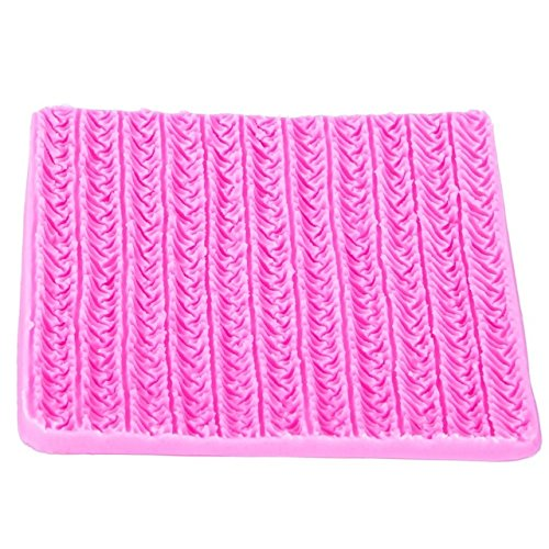 Fondant Cake Molds - Wedding Cake Fondant Molds - Sweater Fabric Knitting Texture Biscuits Embossed Pad Decorating Lace Mat Tool Silicone Molds Fondant Cake Decorating - Cake Decorating Fondant Molds -