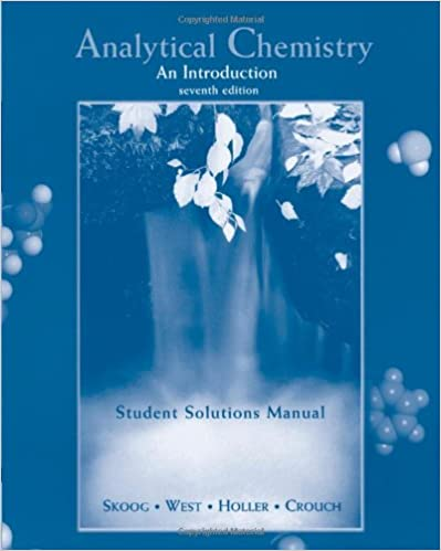 Amazon. Com: analytical chemistry an introduction (student.