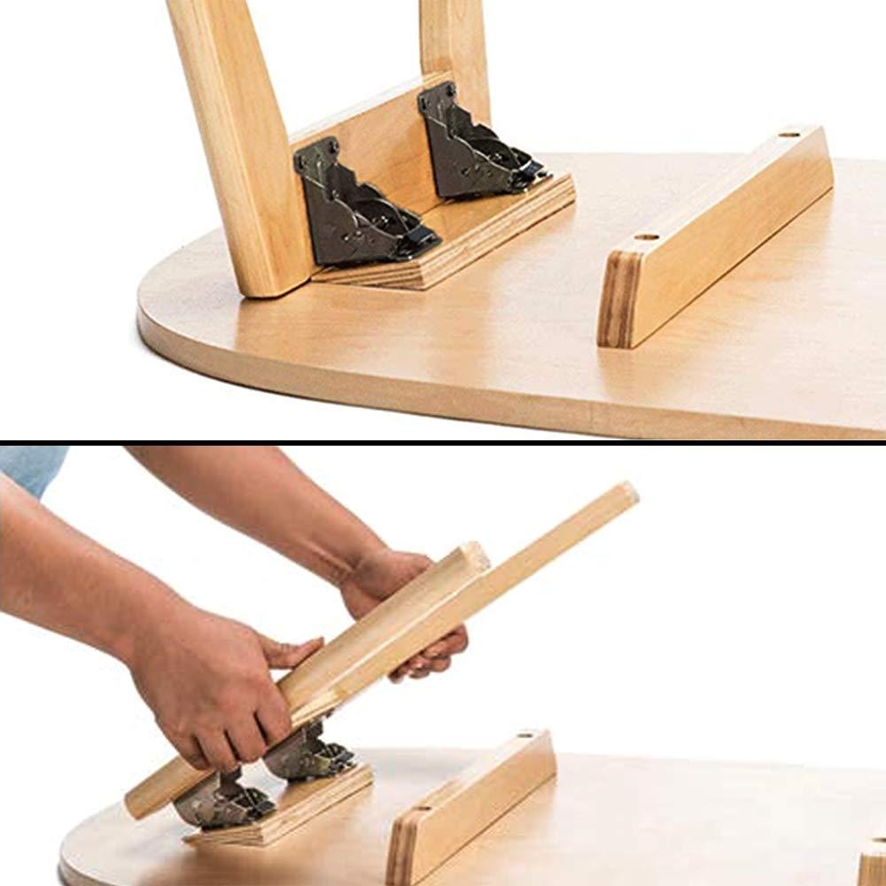 Juego de 2 herrajes plegables para patas de mesa y bancos Gaosheng acero galvanizado