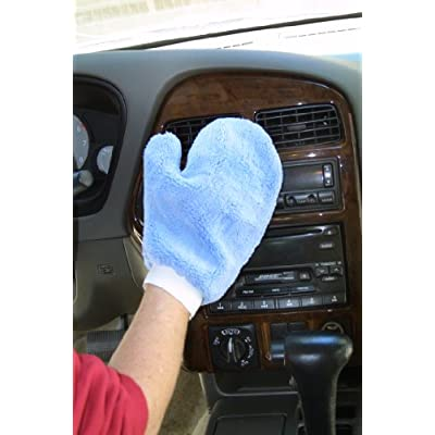 Eurow Microfiber Terry Weave Mitt with Thumb (2-Pack): Automotive