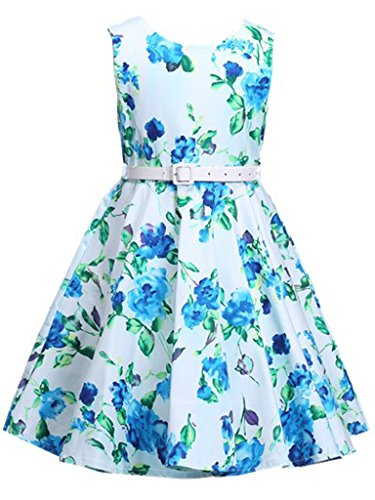 Happy Rose Girl's Dress Vintage Party Floral 16]()