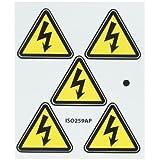 NMC ISO259AP Electric Voltage Hazard ISO Label with Graphic, 2