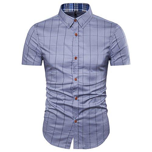 mens 100 cotton short sleeve dress shirt - 2