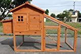 """ChickenCoopOutlet New 75"""" Wood Chicken Coop Backyard Hen House 2-4 Chickens with Nesting Box"""