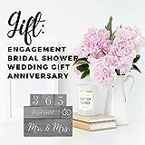 Wedding Countdown Calendar Block - Engagement Gifts