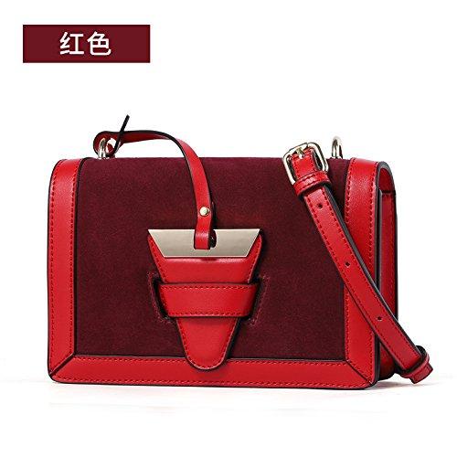 GUANGMING77 Kleine Tasche Weiblichen Messenger Schultertasche Handtasche Farbe Kleines Paket gules CuluXt