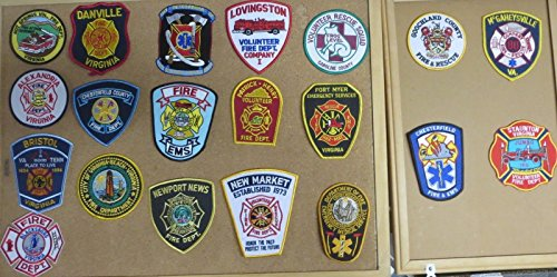 VIRGINIA FIRE/RESCUE DEPARTMENT PATCHES! SET THREE! LOT OF 20!