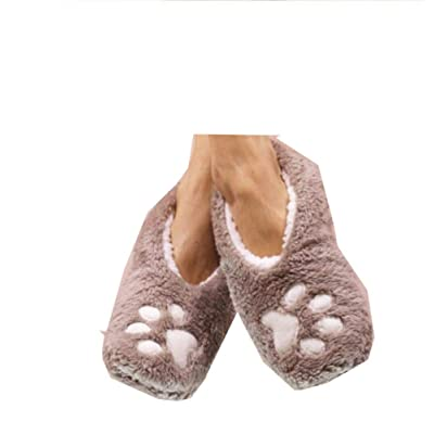 Faceplant I Sleep with Dogs Footsies: Small Grey | Slippers