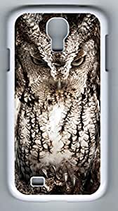 Eastern Screech Owl, Georgia Hard Cover Back Case For Samsung Galaxy S4,PC White Case for Samsung Galaxy S4 i9500