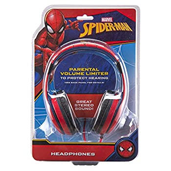 Spiderman Headphones For Kids With Built In Volume Limiting Feature For Kid Friendly Safe Listening 5