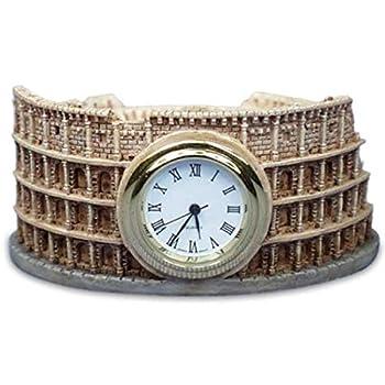 "WL SS-WL-5291 Italy's Roman Colosseum Shaped As A Mini Quartz Clock, 2.5"""