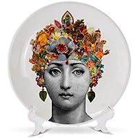 LZKUKZSA Plato Fornasetti Plato de Porcelana Plato Decorativo