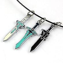 Hairai Sword Art Online Yuuki Asuna Elucidator Necklace Sword Art Online Kirito Necklace