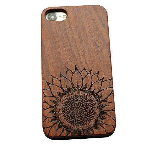 - VIVIPOW Wood Phone Case Compatible iPhone 7 (4.7'),Wooden Sunflower Phone Case Compatible iPhone 7 Case 4.7