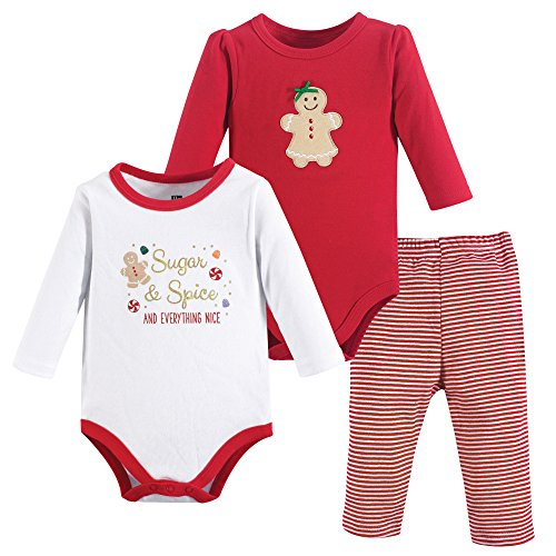 Hudson Baby Baby Bodysuit and Pant Set, Sugar & Spice, 12-18 Months (18M)]()