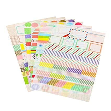 6pcs calendario simple papel pegatina Scrapbook calendario ...