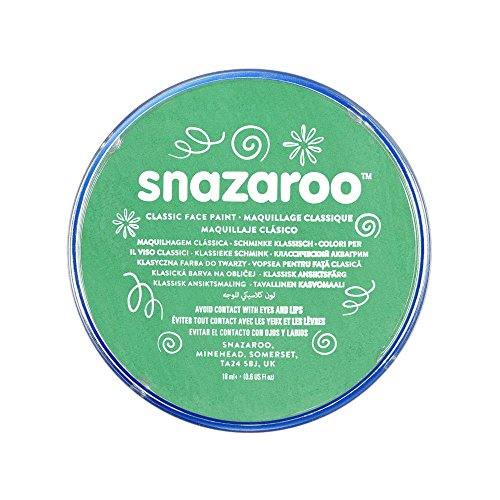 Snazaroo Classic Face Paint, 18ml, Bright Green -
