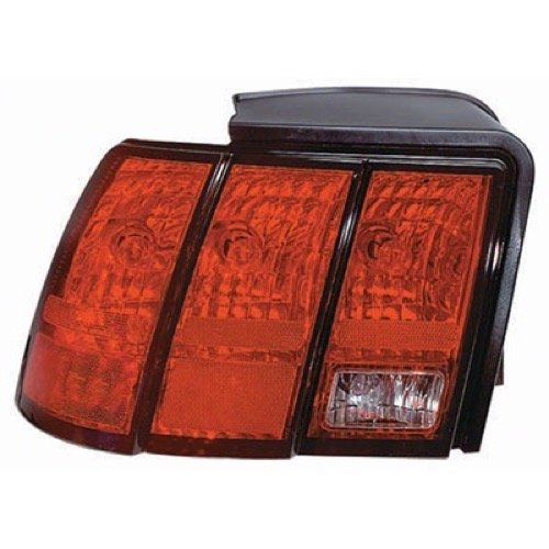 Go-Parts » OE Replacement for 1999-2004 Ford Mustang Rear Tail Light Lamp Assembly Housing/Lens/Cover - Left (Driver) Side - (Base Model + GT + GT Bullitt) 3R3Z 13405 AA FO2818109 for Fo