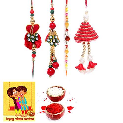 Priglobal PVT LTD | Rakhi for Brother | Traditional Rajasthani Fancy Bhaiya Bhabhi Rakhi Gift Set