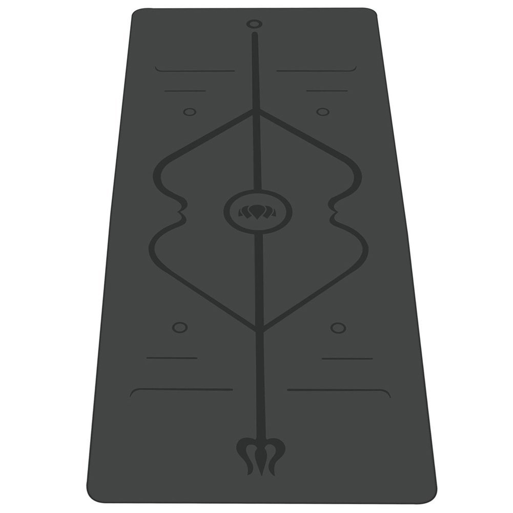 RaoRanDang Non Slip Yoga mat with Alignment Lines Eco Friendly Rubber for Hot Yoga and Bikram Free Carry Bag 72X26