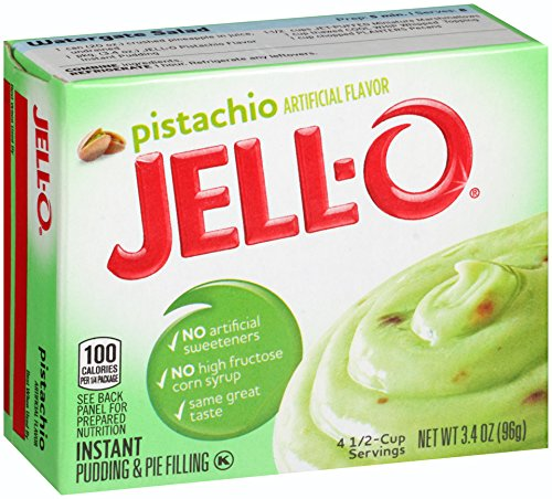 (Jell-O Instant Pudding & Pie Filling, Pistachio, 3.4-Ounce Boxes (Pack of 24))
