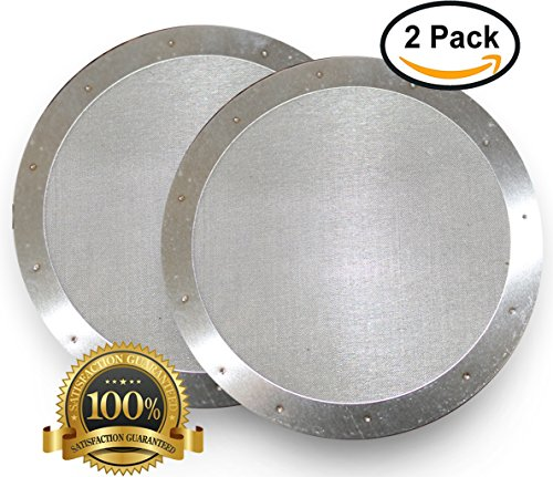 AeroPress Coffee Maker Permanent Filters (Set of 2) by AeroCoffee | Premium Stainless Steel Reusable Mesh Filter for Irresistible, Full Tasting Espresso or Cappuccino | Compatible with Old & New Model