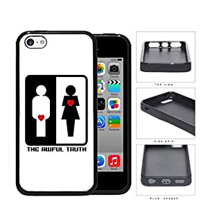 MMZ DIY PHONE CASEThe Awful Truth Funny Movie Black and White with Red Hearts Hard Rubber TPU Phone Case Cover ipod touch 5