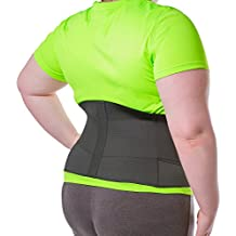 BraceAbility XXXXL Plus Size Elastic & Neoprene Compression Back Brace | Lumbar, Waist and Hip Support Belt for Sciatica Nerve Pain, Low Back Pain Relief while Sleeping, Working, Exercising (4XL)