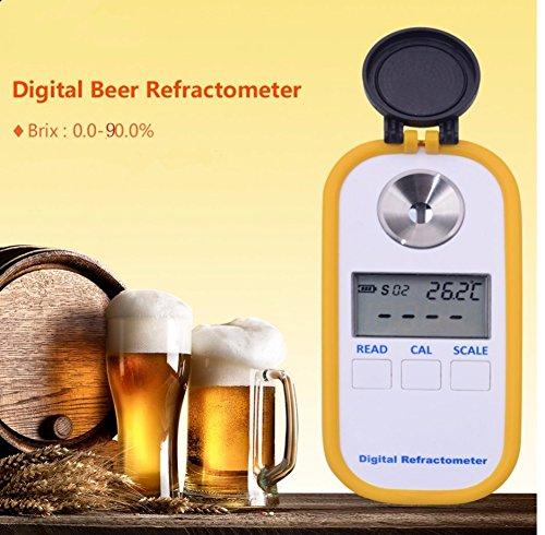 Portable Digital Refractometer Brix Refractometer Digital Brix Pocket Refractometer Refractive Index Meter Sugar Refractometer Brix 0.0-90.0% Accuracy(Brix) 0.2% Automatic Temperature Compensation