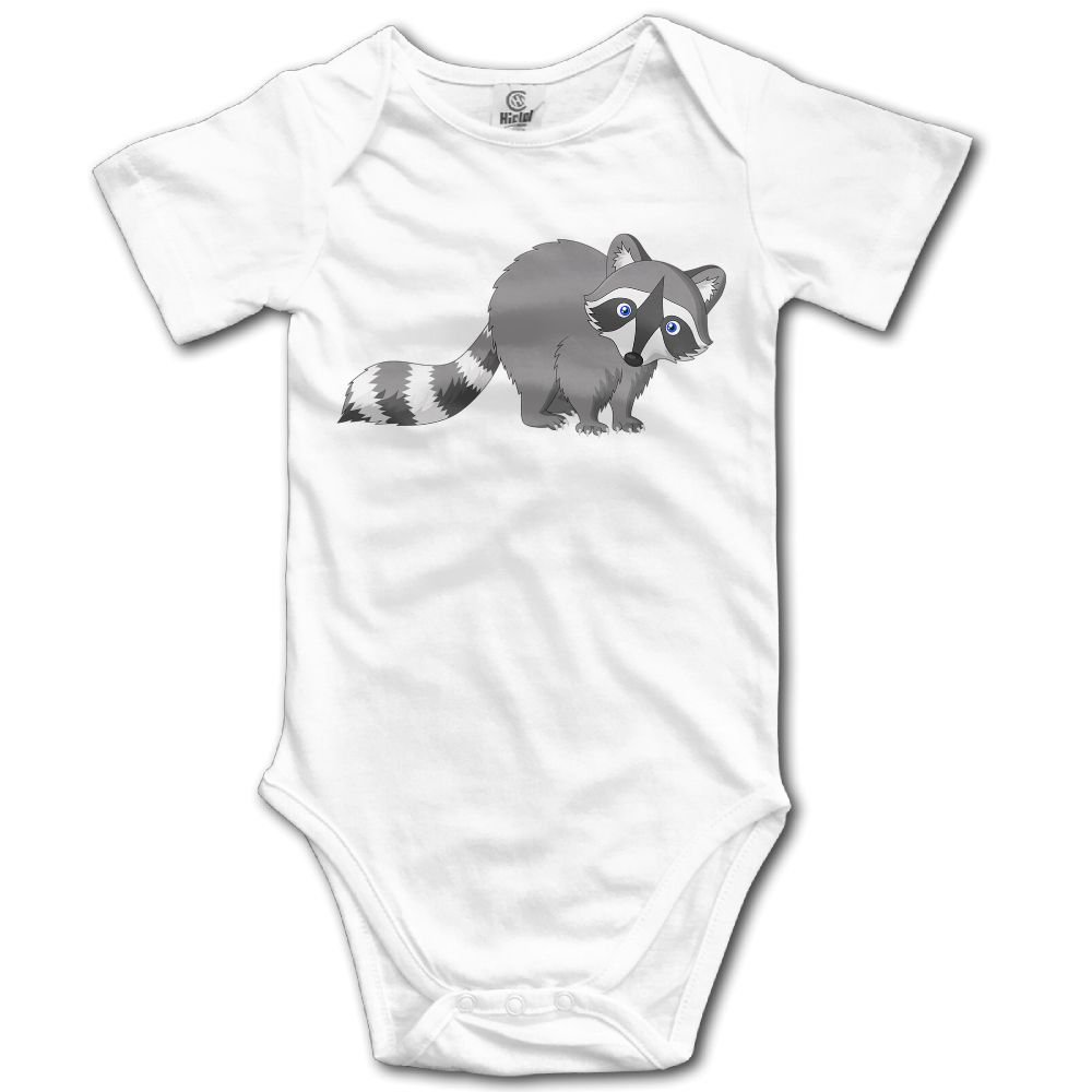 Baby Climbing Clothes Romper Little Gray Raccoon Infant Playsuit Bodysuit Creeper Onesies White