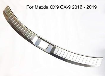 2012-2015 For Mazda CX-5 Rear Outer Bumper Guard Sill Plate Protector Trim Steel