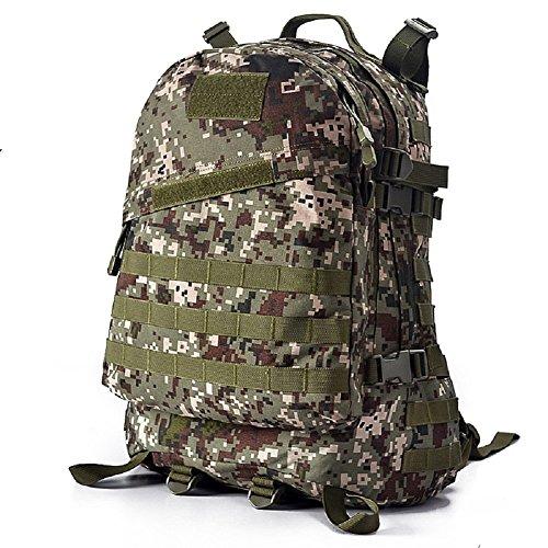 YAKEDA® Montañismo hombres bolso y mochila bandolera 3D paquetes de ataque táctico de las mujeres que suben Mochila de viaje Mochilas Camuflaje paquete impermeable caminatas al aire libre mochila 45L  Color8