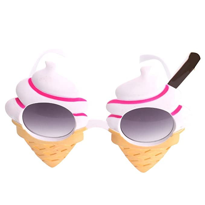354119faebb81b Amazon.com  OULII Ice Cream Summer Sunglasses Costume Glasses Props Funny  Novelty Party Favors  Toys   Games