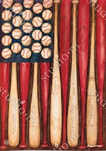 BreezeArt Baseball Season Garden Flag 31505