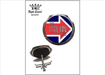 "Insignia para parrilla de coche, con inscripción en inglés ""The Italian Job"""