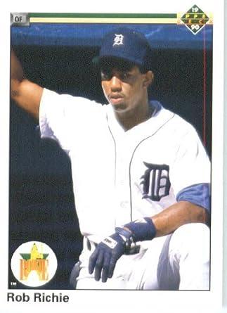 Amazoncom 1990 Upper Deck Baseball Card 76 Rob Richie