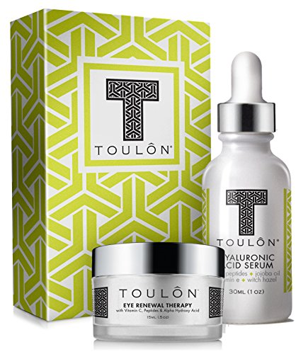 Hyaluronic Acid Anti Aging Skin Care Kits; Women Beauty Gifts: Hyaluronic Acid Serum and Eye Cream for Dark Circles & Puffiness; Perfect Gift Set for Women and Men: Natural Skin - Eye Antioxidant Therapy