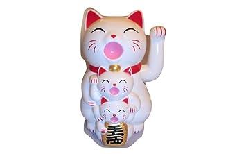 12 color blanco chino LUCKY gatos y gatitos nueva 12,5 cm de ...