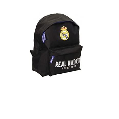MOCHILA ESCOLAR REAL MADRID BLACK 40X30X13CM.